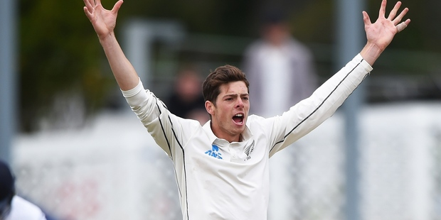 Mitchell Santner is relishing being back in the New Zealand test squad after missing the first test against Pakistan with a fractured wrist. Photo / Photosport