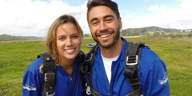 Shaun Johnson and Kayla Cullen had to cancel a trip to Kaikoura after strong winds meant all small planes and helicopters were grounded. Photo/ Facebook