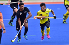 Jared Panchia playing against Malaysia earlier in the year. Photo / photosport.nz