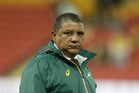 Springboks coach Allister Coetzee is set to be sacked by the South African Rugby Union following a shambolic season, culminating in an embarrassing 20-18 loss to Italy last weekend. Photo / Photosport