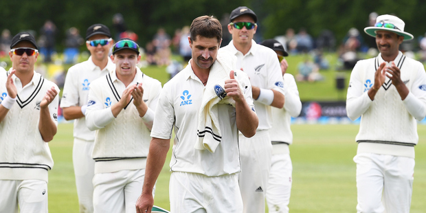 Colin de Grandhomme was the Man of the Match as the Black Caps cruised to victory against Pakistan in Christchurch. Photo / Photosport