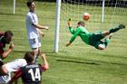 Canterbury's Stephen Hoyle scores the late equaliser. Photo / Photosport