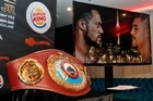 The WBO belt has arrived in New Zealand before the title fight between Joseph Parker and Andy Ruiz
