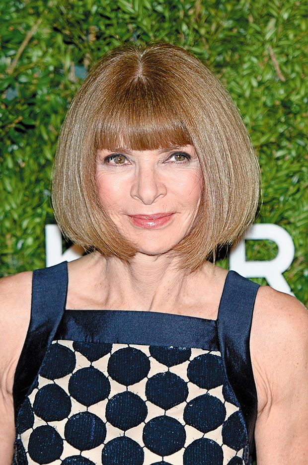 Anna Wintour is known for her unchanging bob. Photo / Squiz Hamilton