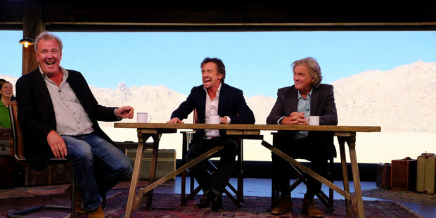 Jeremy Clarkson , Richard Hammond and James May in the first episode of their new Amazon Prime TV show The Grand Tour. Sourced 19th November 2016