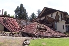 Sherwood Lodge in Waiau, seen after the devastating 7.8 magnitude earthquake that struck North Canterbury