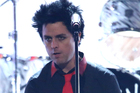 Billie Joe Armstrong, of Green Day, performs at the American Music Awards. Photo / AP