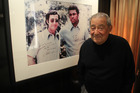 Boxing promoter Bob Arum stands in front of a 1971 photograph of himself with Muhammad Ali in Arum's office in Las Vegas. Photo / Patrick McKendry