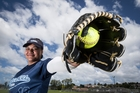 Losana Hutchinson-Tuiletufuga has improved rapidly as a catcher and now sees herself as a catcher/batter. Photo / Jason Oxenham