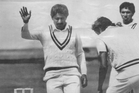 New Zealand's prospects of a win in 1985 looked minimal when Lance Cairns suffered a sickening blow to the head from a Wasim Akram bouncer. Photo / ODT