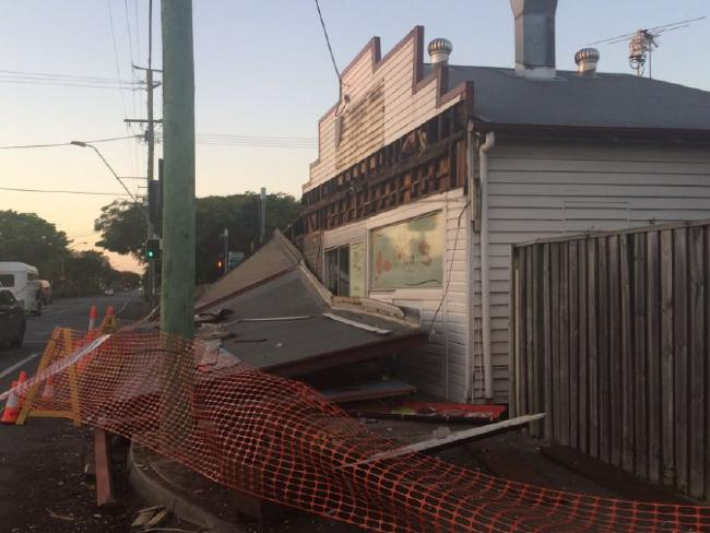 The fish and chip shop was 'beyond a mess'. Photo / Channel 9 Twitter