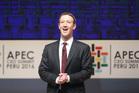 Facebook founder Mark Zuckerbeg speaks at the APED Summit in Peru. Photo / AP