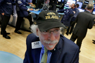 Trader Peter Tuchman wears on the floor of the New York Stock Exchange. Photo / AP
