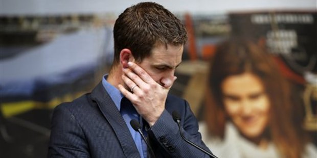 Brendan Cox, widower of murdered British MP Jo Cox, makes a speech during a gathering to celebrate her life in June 22, 2016. Photo / AP