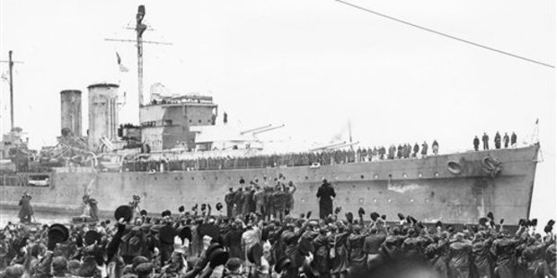 British cruiser HMS Exeter, pictured on February 15, 1940 in Plymouth, England. It has disappeared from it's watery grave in the Java Sea. Photo / AP