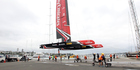 Emirates Team New Zealand launched the first of their America's Cup test boats in June. PHOTO/Michael Craig.