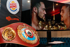 The WBO heavyweight title belt that Joseph Parker is fighting for has arrived in New Zealand. Photo / Photosport.co.nz