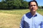 Transport Minister Simon Bridges took an aerial tour of the earthquake-shattered roads today.