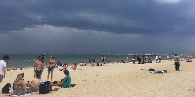 "The combination of warm weather, a high pollen count and stormy conditions has been blamed for the rare and dangerous ""thunderstorm asthma"" that hit Melbourne yesterday. Photo / Nick Allinson, Twitter"