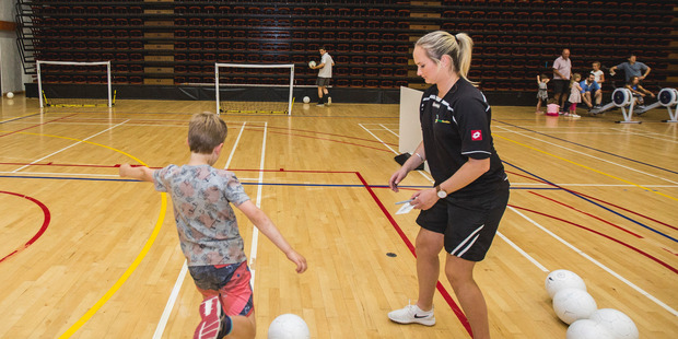 Futsal was one of the activities participants could try out at Saturday's open day. PHOTO/KIRSTEN SIMCOX