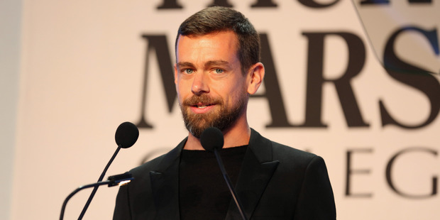 CEO of Twitter and Square Jack Dorsey accepts the award for CEO of the Year onstage during the Thurgood Marshall College Fund 28th Annual Awards. Photo / Getty