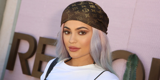 Kylie Jenner has posted topless photos on her Instagram to celebrate her boyfriends birthday. Photo / Getty