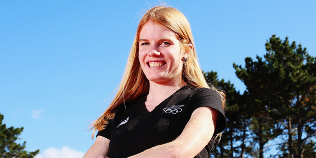 Angie Petty poses for a portrait after being named in the New Zealand Olympic Team. Photo / Getty Images