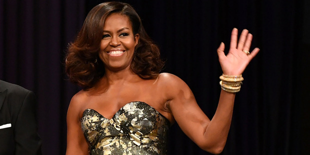 Michelle Obama at the Phoenix Awards Dinner. Photo / Getty Images