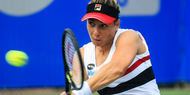Marina Erakovic during the qualifying for the 2016 WTA Dongfeng Motor Wuhan Open. Photo / Getty Images