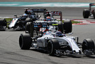 Valtteri Bottas leads the pack during the 2016 Malaysian Grand Prix. Photo / Getty Images