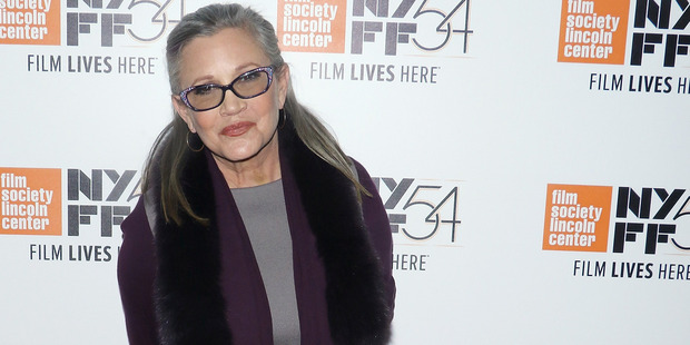 """Star Wars actress Carrie Fisher has revealed she was sent to a """"fat farm"""" for Star Wars. Photo / Getty Images"""