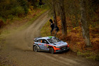 Hayden Paddon during the Shakedown of the WRC Great Britain. Photo / Getty Images