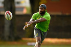 Marika Koroibete in action during a Wallabies training session. Photo / Getty Images