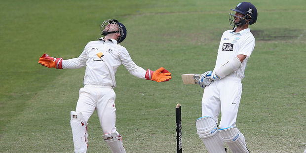 Unsure what Matthew Wade is doing here. Photo / Getty