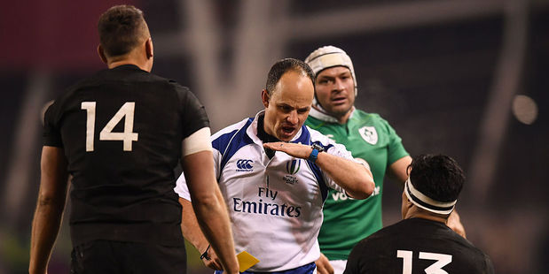 Loading Malakai Fekitoa of New Zealand receives a yellow card from referee Jaco Peyper. Photo / Getty Images