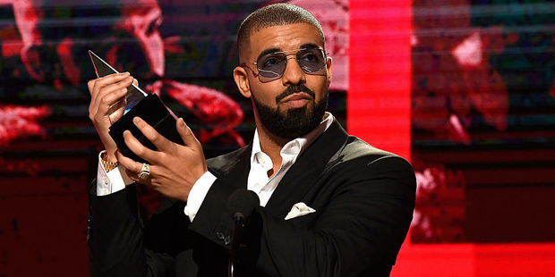 Recording artist Drake accepts the Favorite Rap/Hip-Hop Album award onstage during the 2016 American Music Awards. Photo / Getty Images