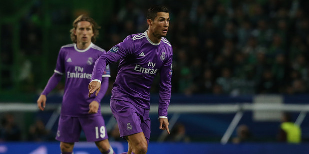 Cristiano Ronaldo in action for Real Madrid in the Champions League earlier in the week. Photo / Getty Images