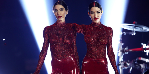 The Veronicas rocked a bold glittery outfit at the ARIAs this year. Photo / Getty