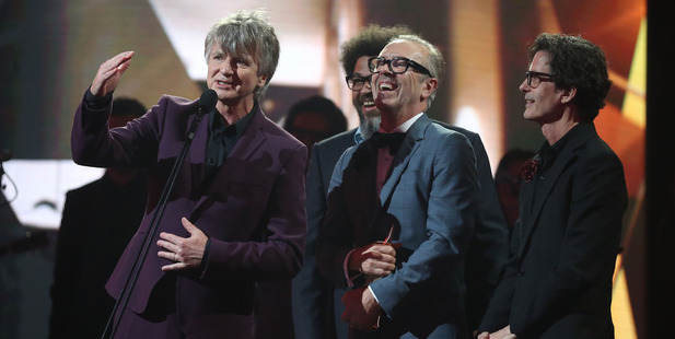 Crowded House accept the ARIA Hallf of Fame Induction during the 30th Annual ARIA Awards 2016. Photo / Getty