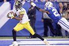 Antonio Brown roasts Vontae Davis for another touchdown. Photo / Getty