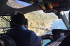 Transport Minister Simon Bridges is given a guided helicopter tour today of State Highway 1 between Cheviot in North Canterbury and Kaikoura. Photo / Kurt Bayer