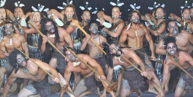 POWERFUL: Kapa Haka group Te Mātārae I Ōrehu perform on stage.
