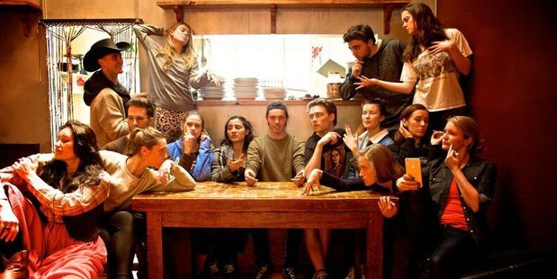 The production boasts a large, young cast and strong vocal performances.