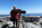 Audrey Young on Mt Washington, in new England.