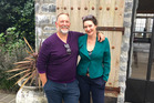 Scott Towers and wife Fiona Fraser at Cape Kidnappers.