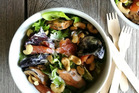 Smoked salmon & mussel salad.