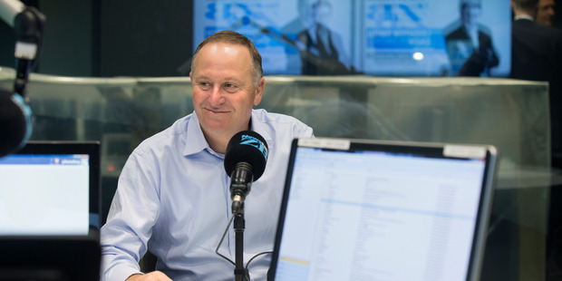 Prime Minister John Key talks with Leihhton Smith on Newstalk ZB on Thursday morning. Photo / Nick Reed