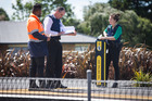 Police and security at the Ranui train station. Photo / Jason Oxenham