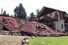 Sherwood Lodge in Waiau, seen after the devastating 7.8 magnitude earthquake that struck North Canterbury. Still taken from a video by Joe Morgan