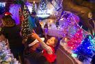 CHRISTMAS MAGIC: Johanna Porter, 3, loved Santa's Wonderland at the Redwoods. PHOTO/BEN FRASER